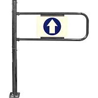 Механические ворота  проходной - флажок
